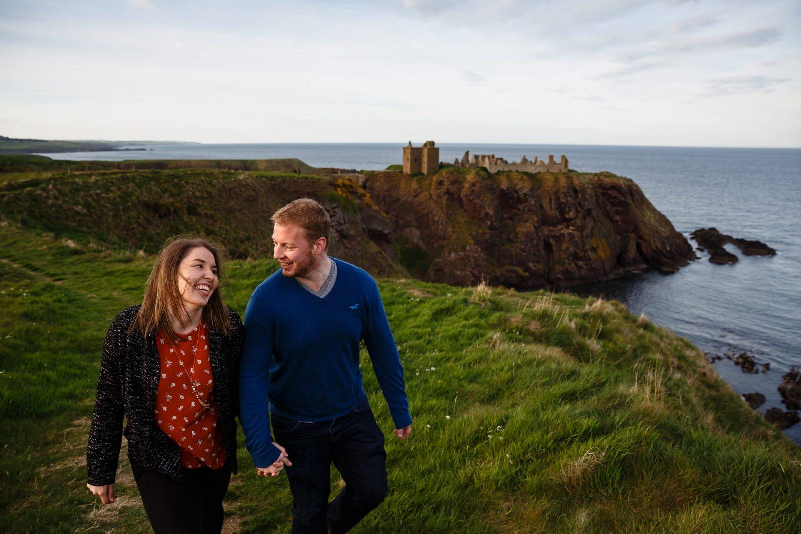 Wedding photographer Dundee Forfar Forfar Angus relaxed fun documentary natural preshoot Dunnoter Castle Aberdeen