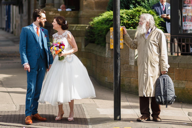 Wedding photographer Angus Dundee documentary fun relaxed genuine Glasgow Oran Mor