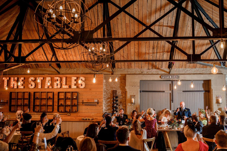 Taypark House wedding, Dundee wedding photographer, Scotland wedding venue, Documentary wedding, Barry Robb Photography, the stables reception pictures, wedding speech