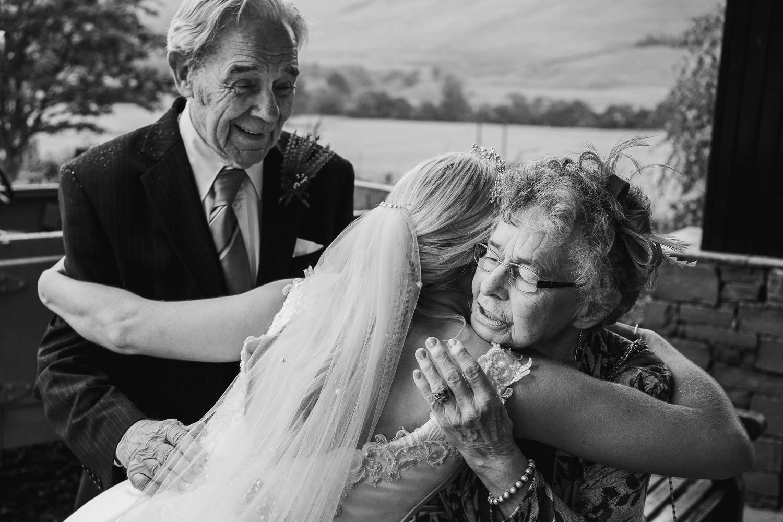 Glen Clova wedding photographs , Scotland elopement , documentary wedding photography, Rainy wedding pictures , Green tartan kilt , Angus Wedding , Aberdeenshire photographer